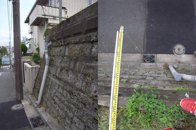 それから建物の外形を確認。 地縄を張ると小さく見えるとよく言われますが...  一級建築士事務所